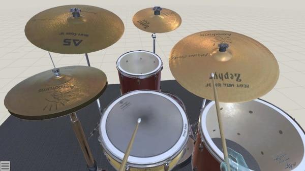 Aerodrums 3D - приложение-симулятор барабанной установки