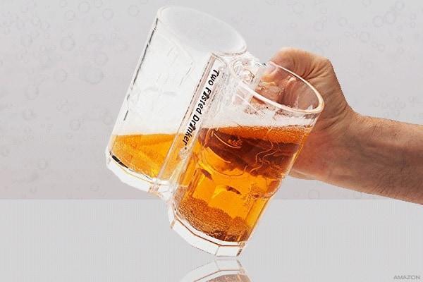 Сдвоенная кружка для пива