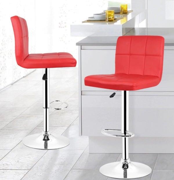 Широкий стул со спинкой