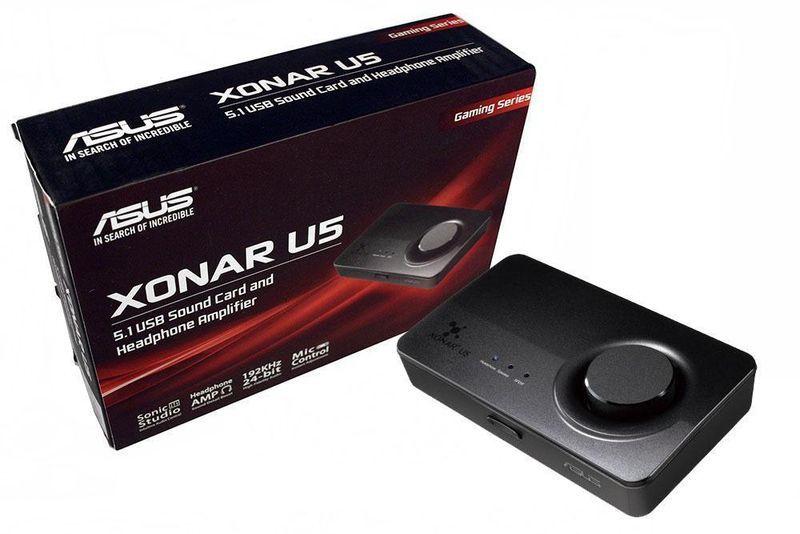 Карта ASUS Sound Card Xonar U5 с поддержкой акустики 5.1