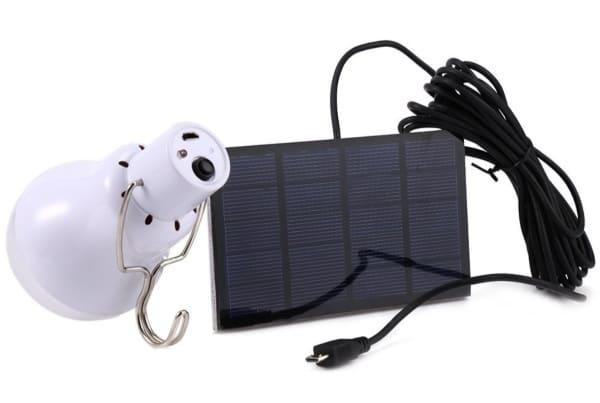 Комплект из лампочки и солнечной панели