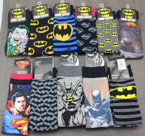 Носки с изображением супергероев