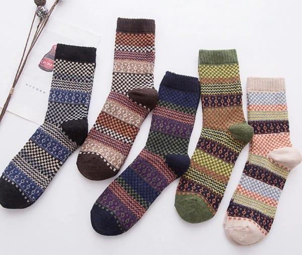 Зимние носки с узором