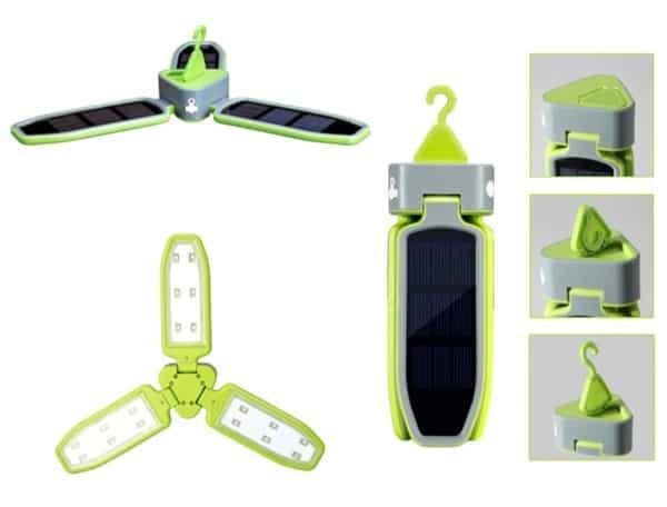 Лепестковый светильник на солнечных панелях