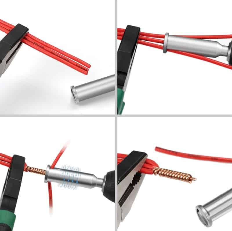 Насадка для автоматической зачистки и скручивания проводов