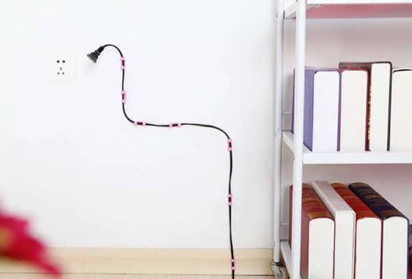 Пластиковые зажимы для организации проводов