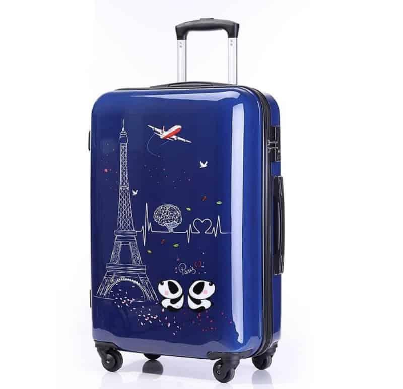 Серия чемоданов с забавными рисунками
