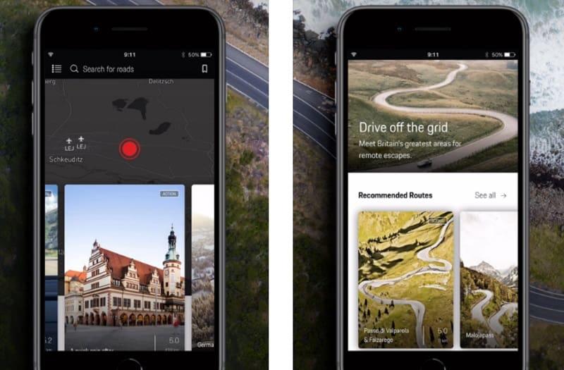 Roads - приложение с красивыми дорогами от Porsche