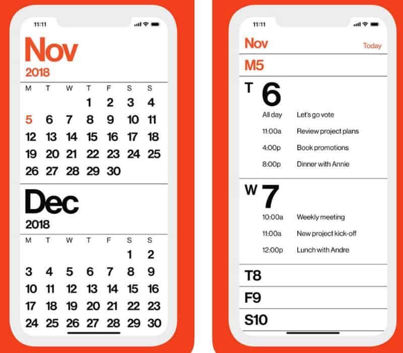 Minimal Calendar - очень простой календарь для iOS