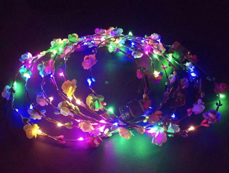 Цветочный LED-венок