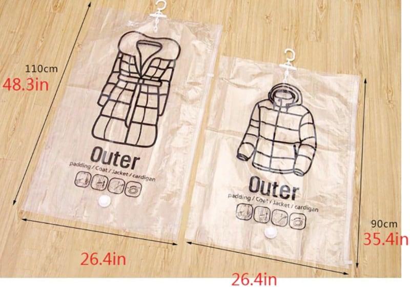 Вакуумные пакеты для хранения верхней одежды