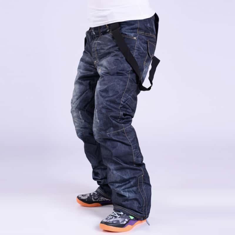 Сноубордические брюки джинсовой окраски
