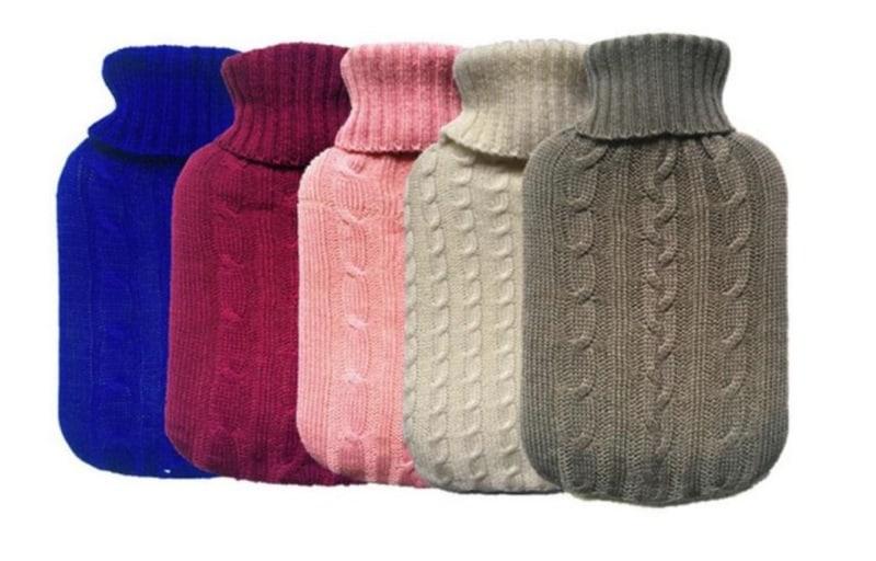 Чехлы для грелок в виде тёплого свитера