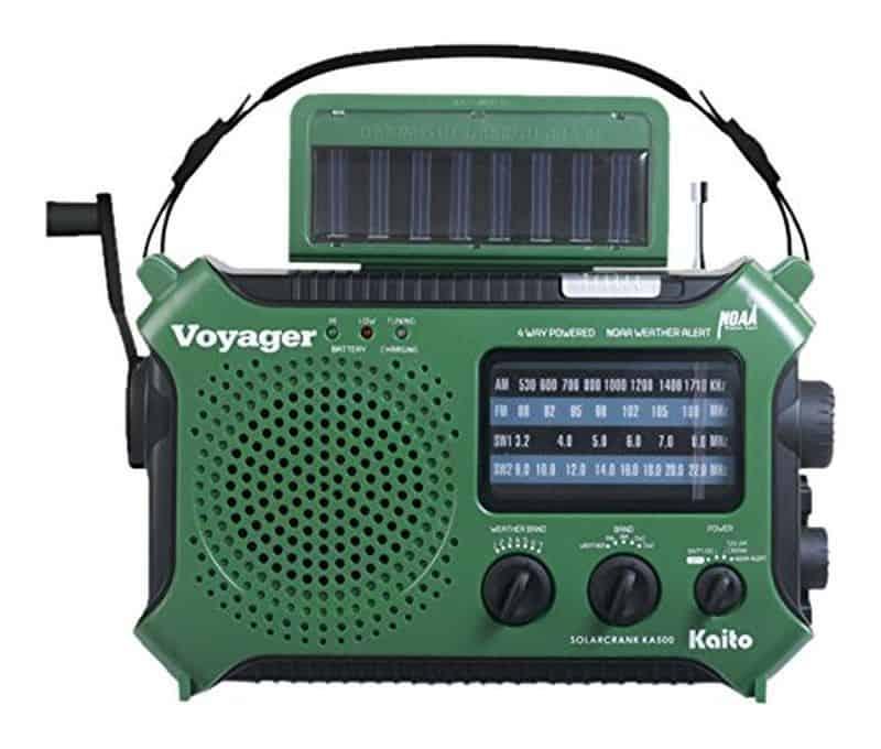 Kaito Ka500grn - радио с поддержкой 5 способов зарядки