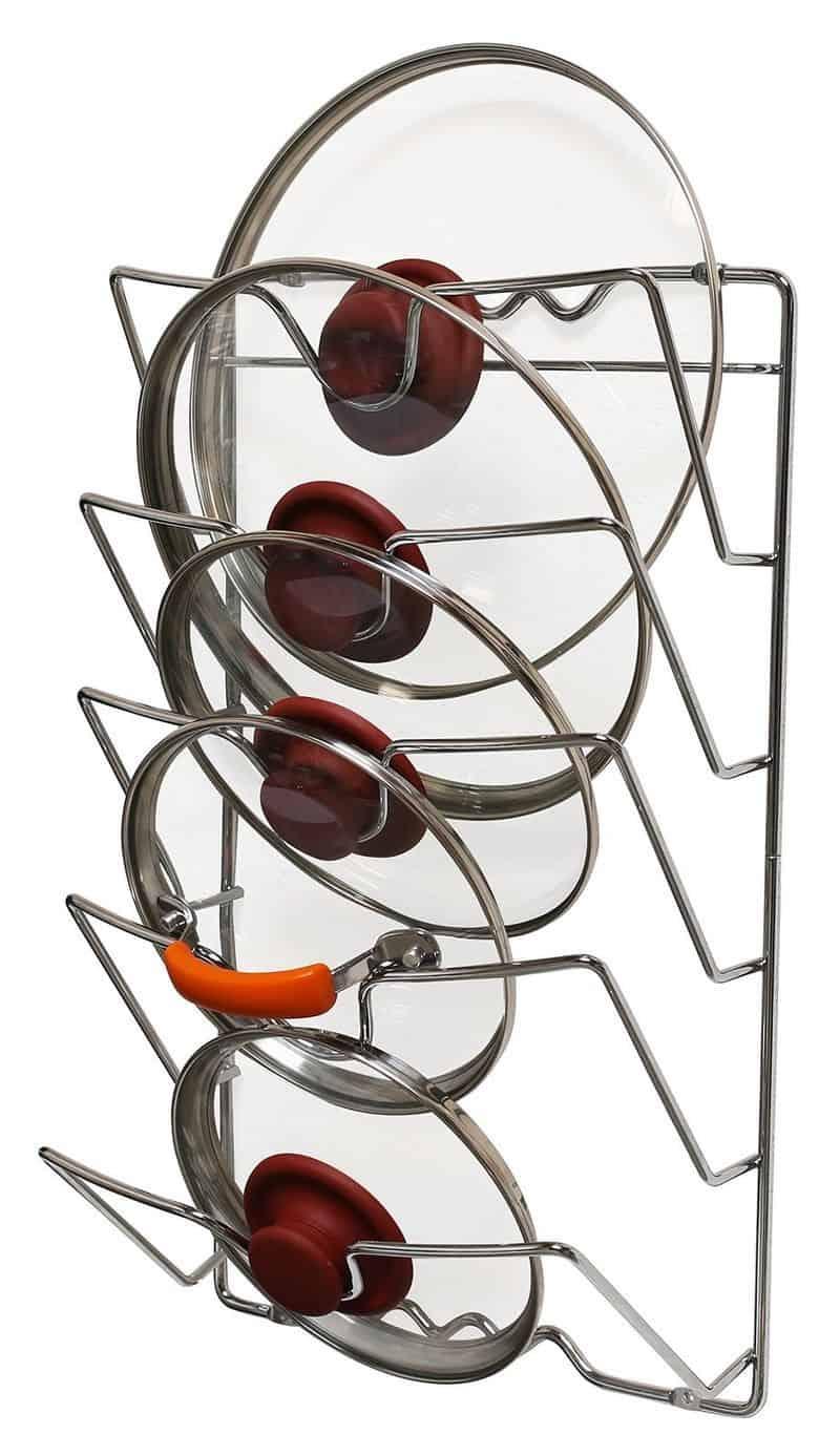 Полочка для хранения крышек для кастрюль и сковородок DecoBros