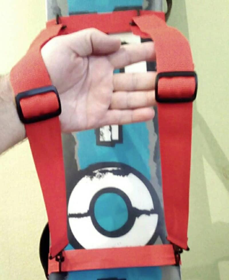 Ремни для переноски сноуборда за спиной