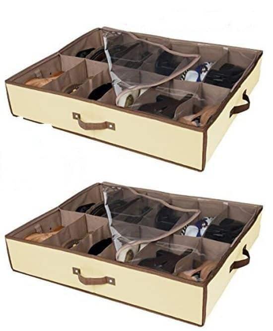 Ящик для подкроватного хранения обуви