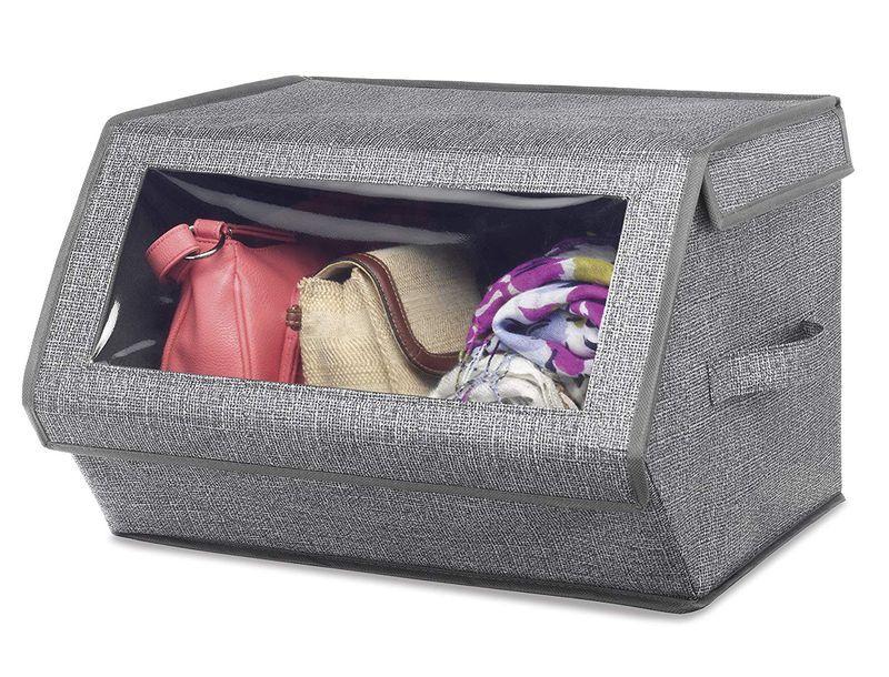 Ящик для хранения одежды и аксессуаров с окошком