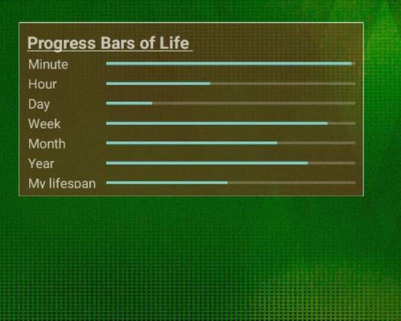 Progress Bars of Life - приложение для визуализации отрезков времени