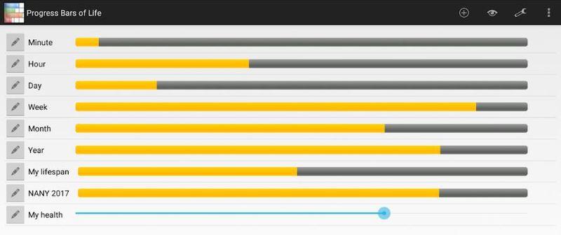 Progress Bars of Life — приложение для визуализации отрезков времени
