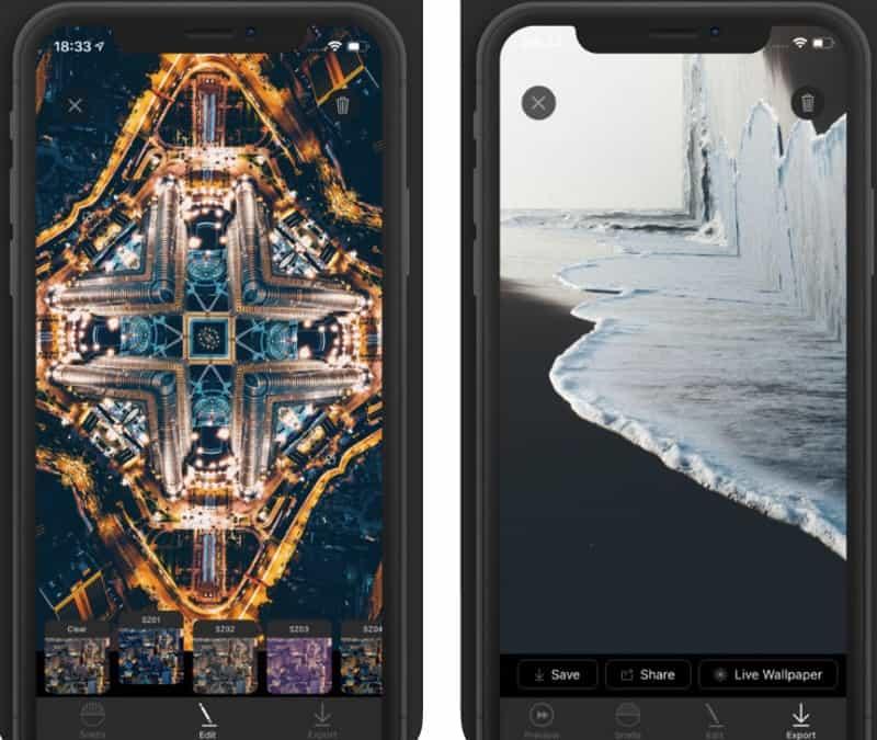 Snell - приложение для зеркальной обработки фотографий