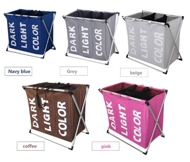 Складная корзина для сортировки грязного белья по цвету
