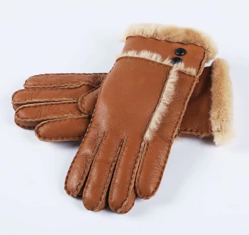 Элегантные перчатки из кожи