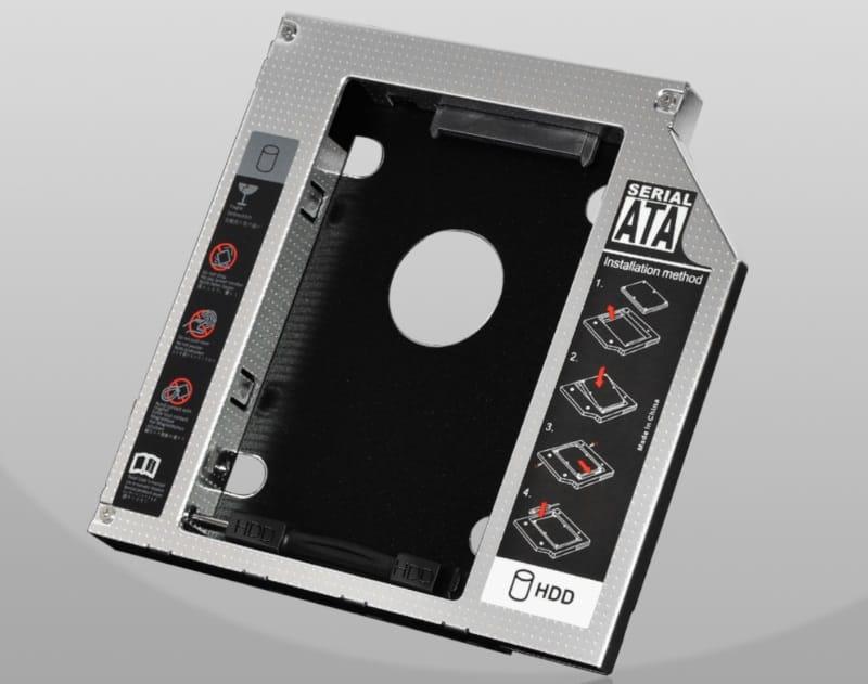 Адаптер для подключения дисков через DVD-отсек ноутбуков
