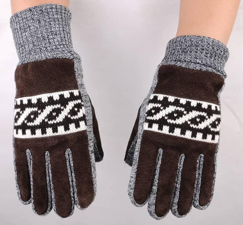 Комбинированные перчатки для мужчин