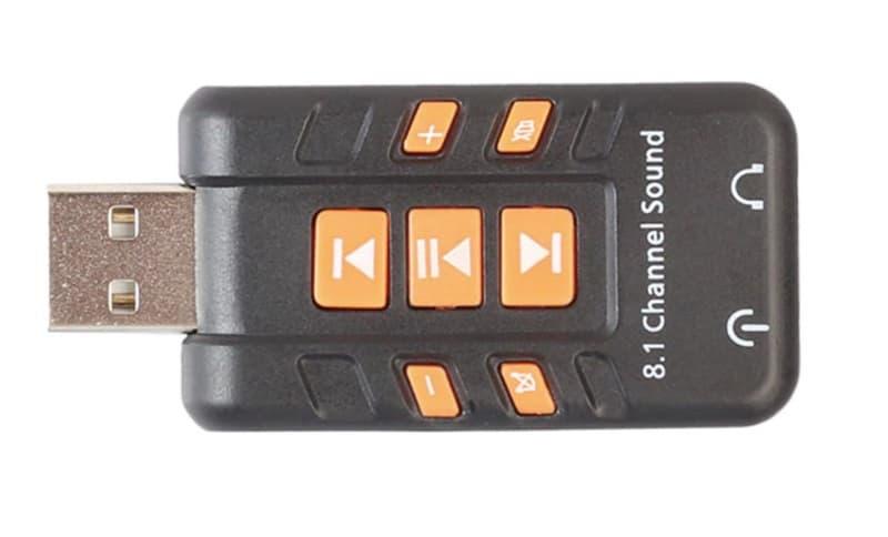 USB-карта с кнопками управления воспроизведением