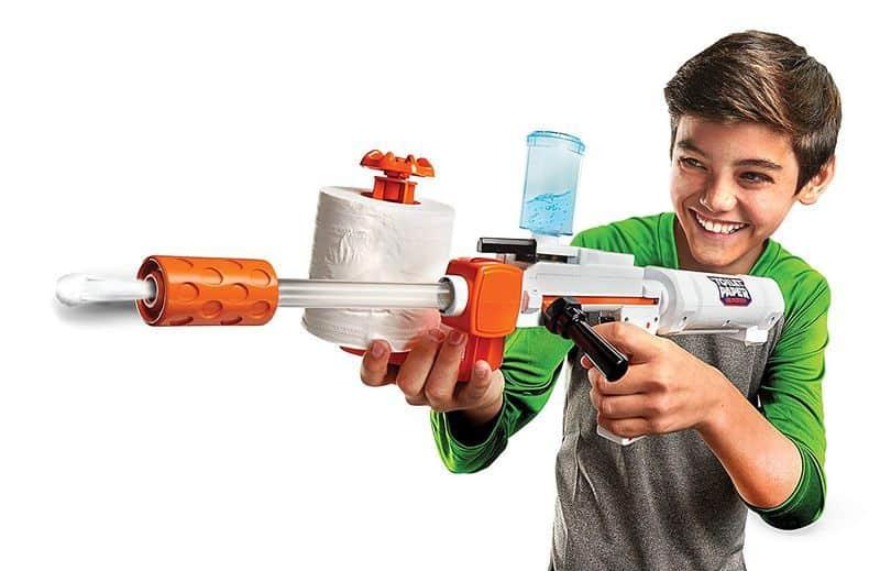 Игрушечное ружьё для стрельбы мокрой туалетной бумагой