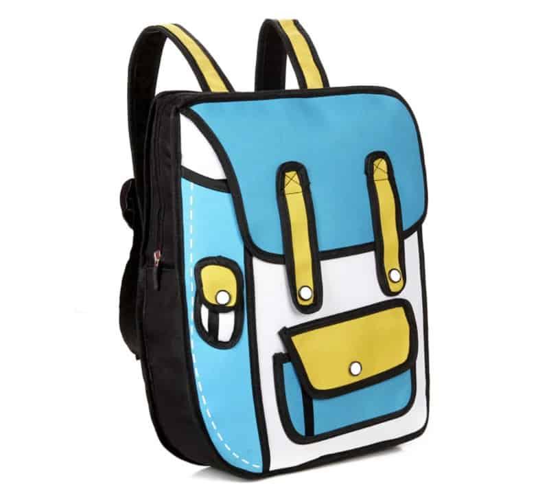 2D-рюкзак в мультяшном оформлении
