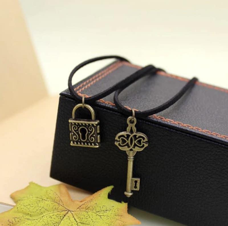 Набор кулонов из замочка и ключа