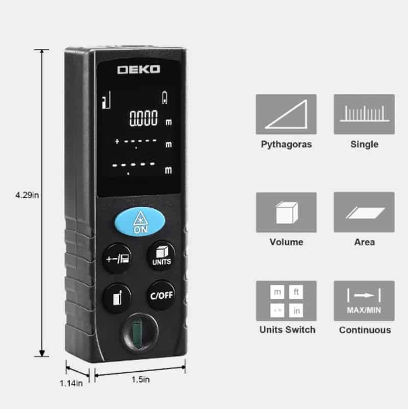 Лазерный прибор для замеров DEKO