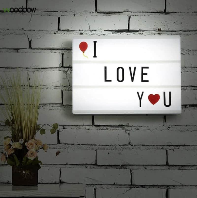 Световое панно I love you