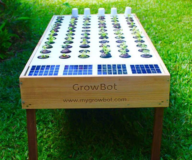 Гидропонная установка на солнечных панелях GrowBot