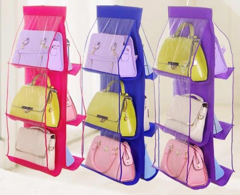 Подвесной органайзер для хранения сумок