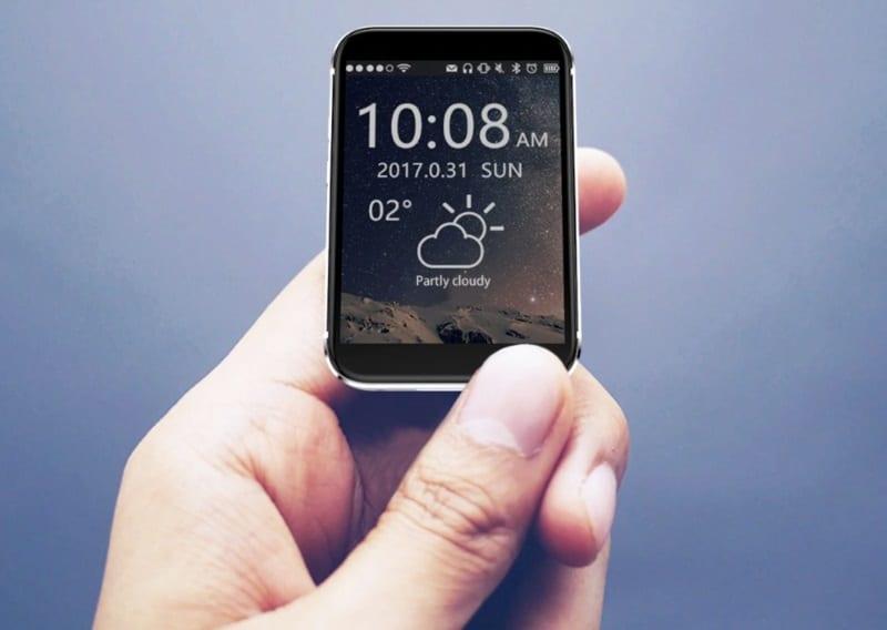 Миниатюрный смартфон-часы AEKU i5