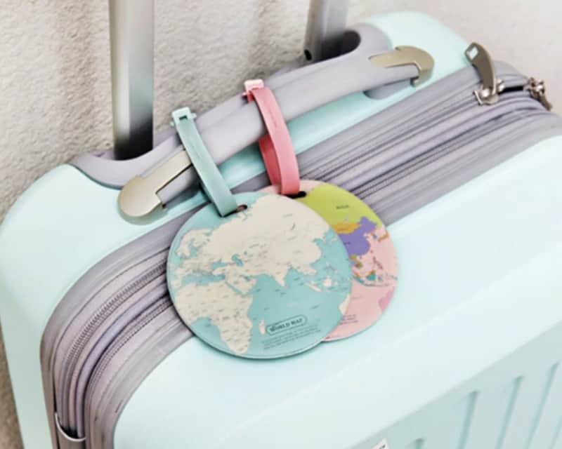 Бирки на чемодан с картой мира