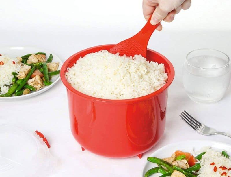 Контейнер для приготовления риса в микроволновке Sistema