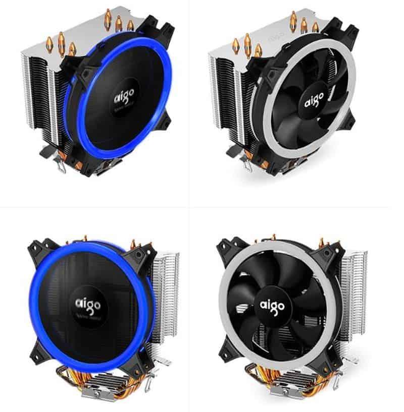 Большой кулер для охлаждения процессора AIGO E3