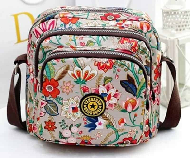 Цветочная сумка в корейском стиле