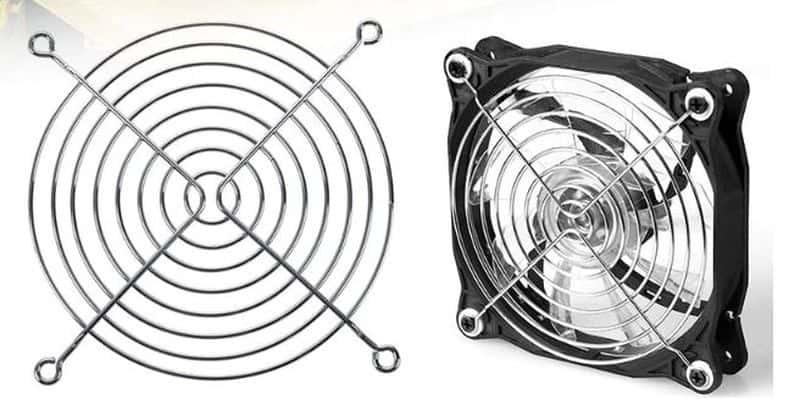 Вентилятор с защитной решёткой
