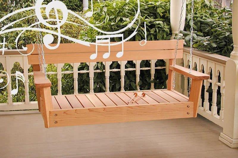 Ксилофон в формате подвесной скамейки