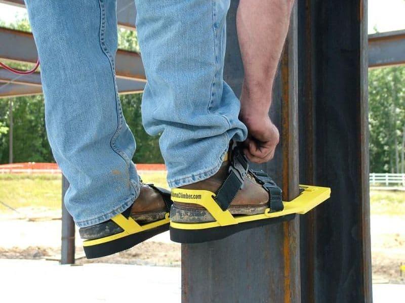 Обувные накладки для подъёма на металлоконструкции