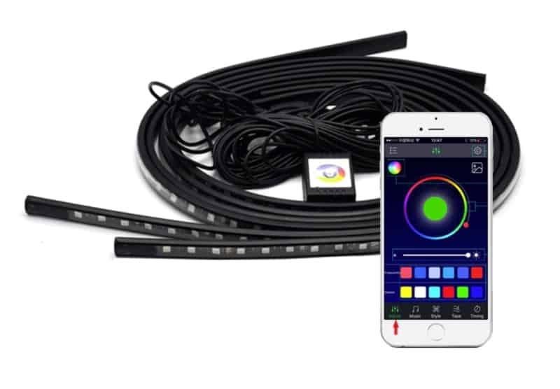 Многоцветная LED-подсветка для стайлинга