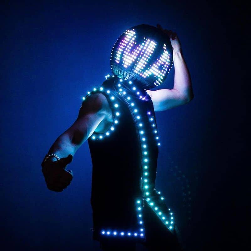 Светодиодный диско-шлем