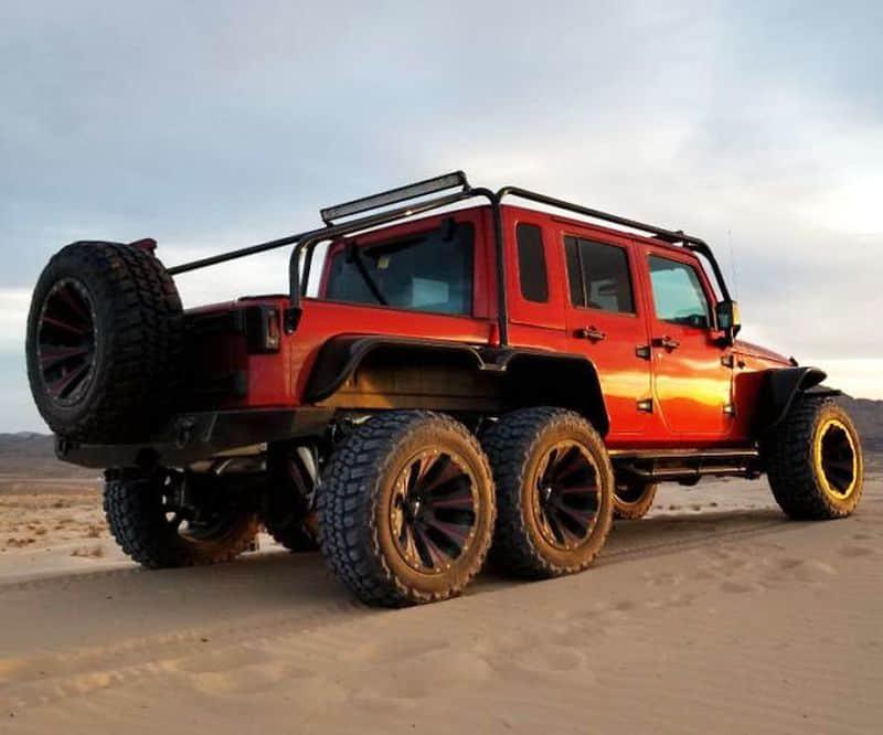 Внедорожник Jeep Wrangler Rubicon с колёсной формулой 6x6
