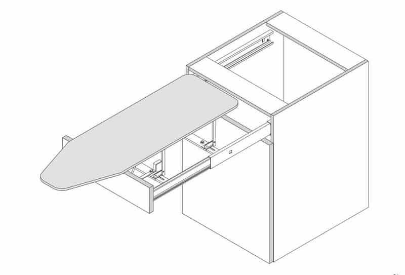 Гладильная доска выдвижной конструкции Vauth-Sagel
