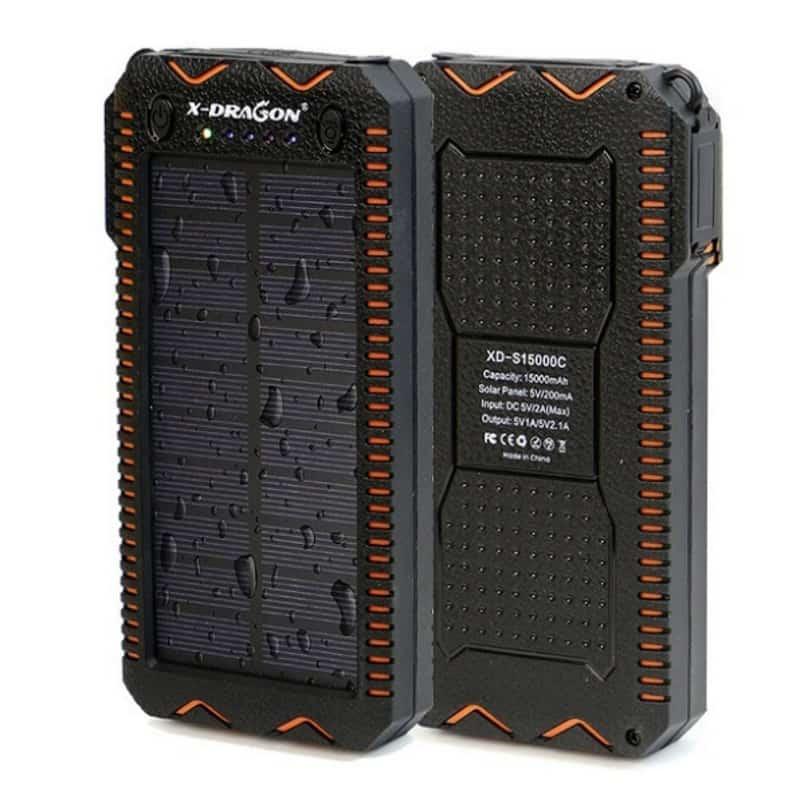 Повербанк с возможностью зарядки от солнцаX-Dragon